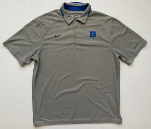 Nike Dri Fit Mens Grey Duke Blue Devils Football Polo Shirt XL