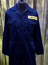 """Classic Retro Dunlop Badged Studded Navy Boiler Suit Overalls 38-40"""" Chest"""