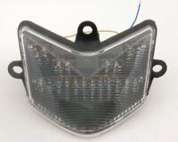 Clignotants LED Feu arrière intégrés pour Kawasaki Ninja ZX10/ZX10R 04-05 Clear
