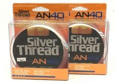 2 Spools Of Silver Thread An40 Copolymer Fishing Line 25Lb/250Yd Green