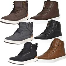 Crosshatch Mens Trainers Lace Up Flat High Tops Padded Boot Ankle Shoes UK 7-12