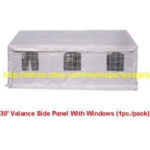 30' Valance Side Panel With Windows (1pc./pack) For Canopy 30-ft long