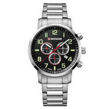 Wenger 01.1543.102 Men's Attitude Chrono Steel Bracelet Watch