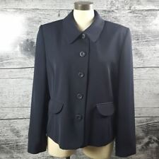 Ingenuity Women's Blazer Sz 14 Made in Canada Dark Navy Blue Lined Business Suit