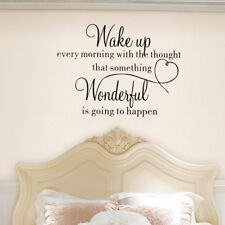 Wake Up Wonderful Wall Sticker Home Decoration Bedroom Removable Vinyl Decal Art