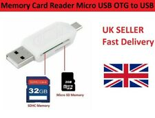 Memory Card Reader Micro USB OTG to USB 2.0 Adapter USB 2.0 SD/Micro SD Card