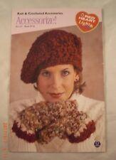 Accessorize! - Red Heart Book 0716 - 4 Knit & Crochet Patterns