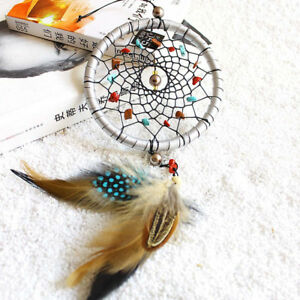 Silver Dream Catcher Feathers Core Bead
