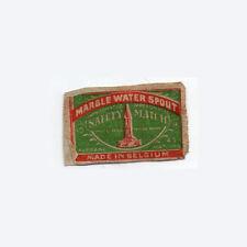 RARE OLD match box label  Belgium #735