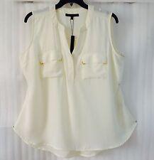 Harve Benard Womens Plus Ivory Shirt size 22/20/2X Blouse Top New $79 Sleeveless