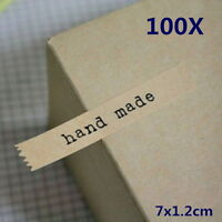 100X HandMade Paper Stickers Labels Seal Craft Preserve Food Wedding Party #QW