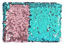 "Mini Flippy Sequin Slipin Photo Album Holds 36 6""x 4""(10x15cm) Photos Pink/Blue"