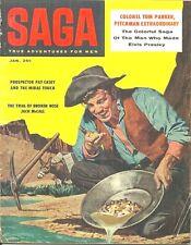 SAGA January 1958 - ELVIS PRESLEY, HERB MOTT, STAN BORACK, SLAYTON UNDERHILL etc