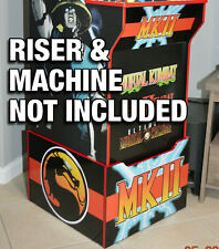 Arcade1up Cabinet Riser Graphics - Mortal Kombat 2 II Graphic Sticker Decal Set