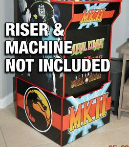 Arcade1up Cabinet Riser Graphics - Mortal Kombat 2 II Graphic Sticker Decal Set