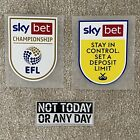 EFL Sky Bet Championship 2021/22 Player Size Shirt Sleeve Patches 100% Official