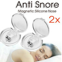 2x Clip Silicone Anti Snore Stop Snoring Nose Nasal Dilators Clip Sleeping Aid