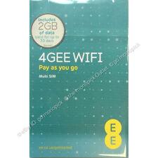 EE PAYG SIM Card Preloaded With 2 GB of 4gee Data