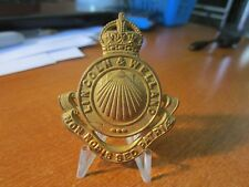 WWII Kings Crown Canadian Army Lincoln & Welland Regiment Cap Badge #1311