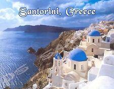 Greece - SANTORINI - Travel Souvenir Flexible Fridge Magnet