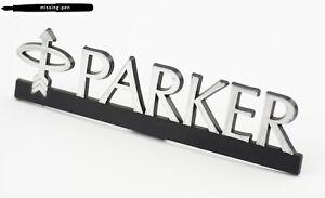 Parker Plastic Promotion / Decoration set up Sign in Silver-Black