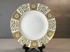 "ROYAL CROWN  DERBY PANEL GREEN DINNER PLATE 10 1/2"" ENGLAND  EX CON"