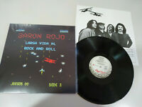 "Baron Rojo Larga Vida al Rock and Roll Chapa Discos LP 12"" Vinilo VG+/VG+"