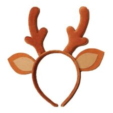 Christmas Festive Brown Baby Reindeer Antlers and Ears Alice Hair Band Headband