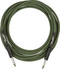 Fender Joe Strummer Pro 13' Instrument Cable, Drab Green, 0990810276