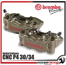 Coppia Pinze Brembo CNC Radiali 180 mm Jiap P4 30/34 Racing Calipers - 220A01610