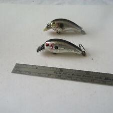 FISHING LURE  2 CORDELL  BIG-O  CRANK BAIT  BLACK & SILVER