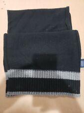 NWT $68.50 Brooks Brothers Men's Wool Cashmere Nylon Knit Scarf Black Grey Gray