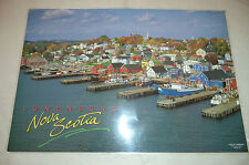 Lunenburg Nova Scotia Poster Postcard Laminated The Postcard factory 17 x12 inch