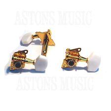 Cigar Box Guitar Part Parts - Traditional Tuners Machine Head x3 Gold Colour