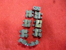 9 BRASS G SCALE RAIL CLAMPS S/H  ACCUCRAFT SIDE SCREWS FIT LGB / USA TRAINS