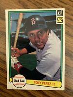1982 Donruss  #408  Tony Perez  Boston Red Sox   ExMt