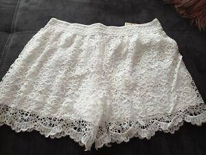 zara spitze shorts gr m