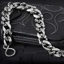 "Guntwo Mens Korean Fashion Jewelry Skull 15"" Compact Jean Wallet Chain C3345 US"