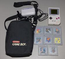 Nintendo Gameboy DMG-01 (1989) System w/ Storage Case & 8 Games (Castlevania)