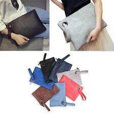 Vintage Fashion Solid Evening Women Clutches PU Leather Handbag Envelope Bag
