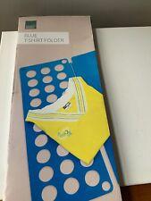 Taylor And Brown T-shirt Folder Plastic  Blue Laundry Folding Tidy Neat