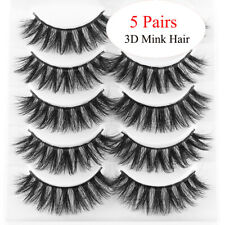 Thick Natural Long 3D Mink Hair False Eyelashes Wispy Eye Lashes Extension