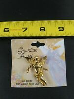 Vintage Guardian Angel pin button pinback *EE68