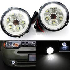 2x High Power 18W Fog Light Lamps Assy w/ LED Halo Rings For Nissan Juke 2011-14