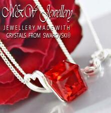 925 Silver Necklace Pendant Crystals from Swarovski® 8mm CUBE - Light Siam
