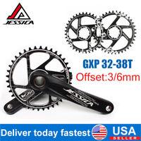 JESSICA MTB Bike GXP Crankset Offset 3/6mm Chainring 32-38T Narrow Wide Sprocket