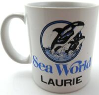 Sea World Shamu LAURIE Personalized Coffee Tea Cup Mug Theme Park Souvenir