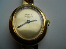 Vtg Emerich Meerson women's, mechanical & hand winding Analog dress used watch