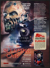 THE SLEEPING CAR__Orig. 1990 Trade print AD promo__JUDIE ARONSON__DAVID NAUGHTON