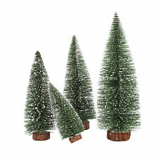 Mini Christmas Snow Tree Small Pine Tree Table Office Home Decoration Gift E&F
